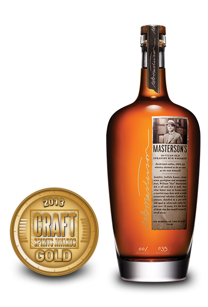 22013 craft spirits awards | mastersons 10-year-old straight rye whiskey