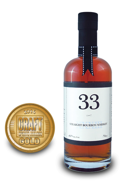 2014 craft spirits awards | 33 Straight Bourbon Whiskey