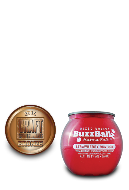 2014 craft spirits awards | BuzzBallz-Strawberry-Rum-Job