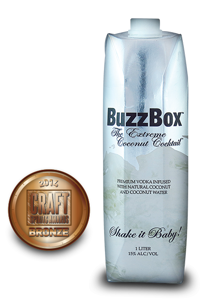 2014 craft spirits awards | BuzzBox-Premium-Coconut-Vodka
