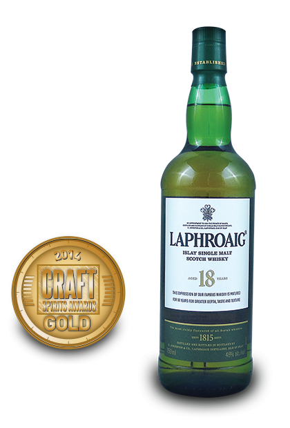2014 craft spirits awards | Laphroaig-Islay-Single-Malt-Scotch-Whisky-Aged-18-Years