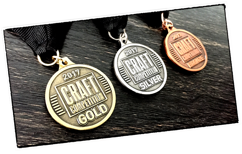 2016 Craft Competition Medals