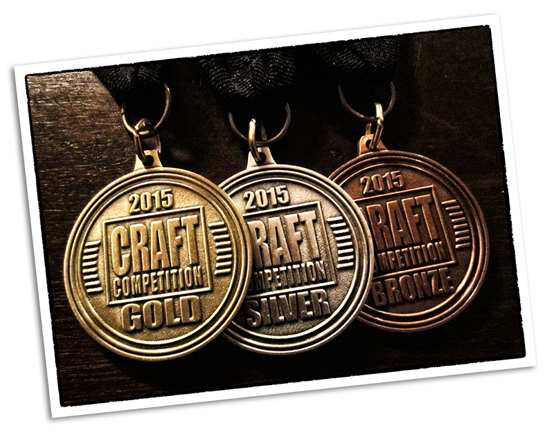 2015 Craft Competition Medals