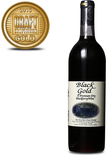 Florida Orange Groves Black Gold Dry Blackberry Wine