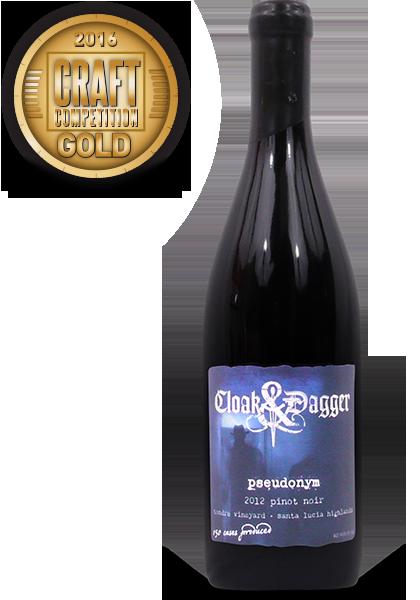 Cloak & Dagger Wines 2012 Pseudonym Pinot Noir