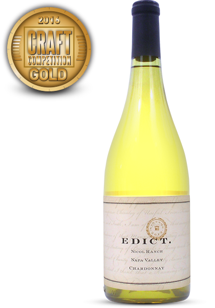 Edict., 2013 Nicol Ranch Chardonnay