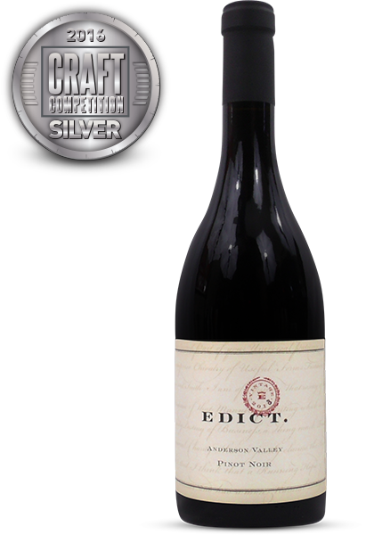 Edict., 2013 Anderson Valley Pinot Noir