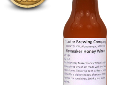 Haymaker Honey Wheat, American Style Wheat Beer