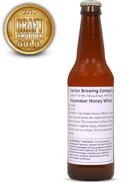 Haymaker Honey Wheat, American Style Wheat Beer