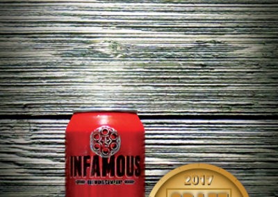 Infamous Bugsy's Fire Brush Amber Ale
