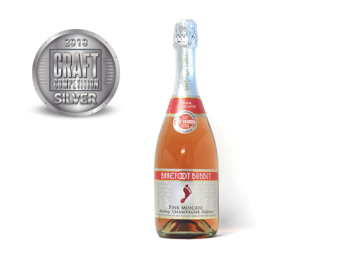 Barefoot Bubbly Pink Moscato Champagne