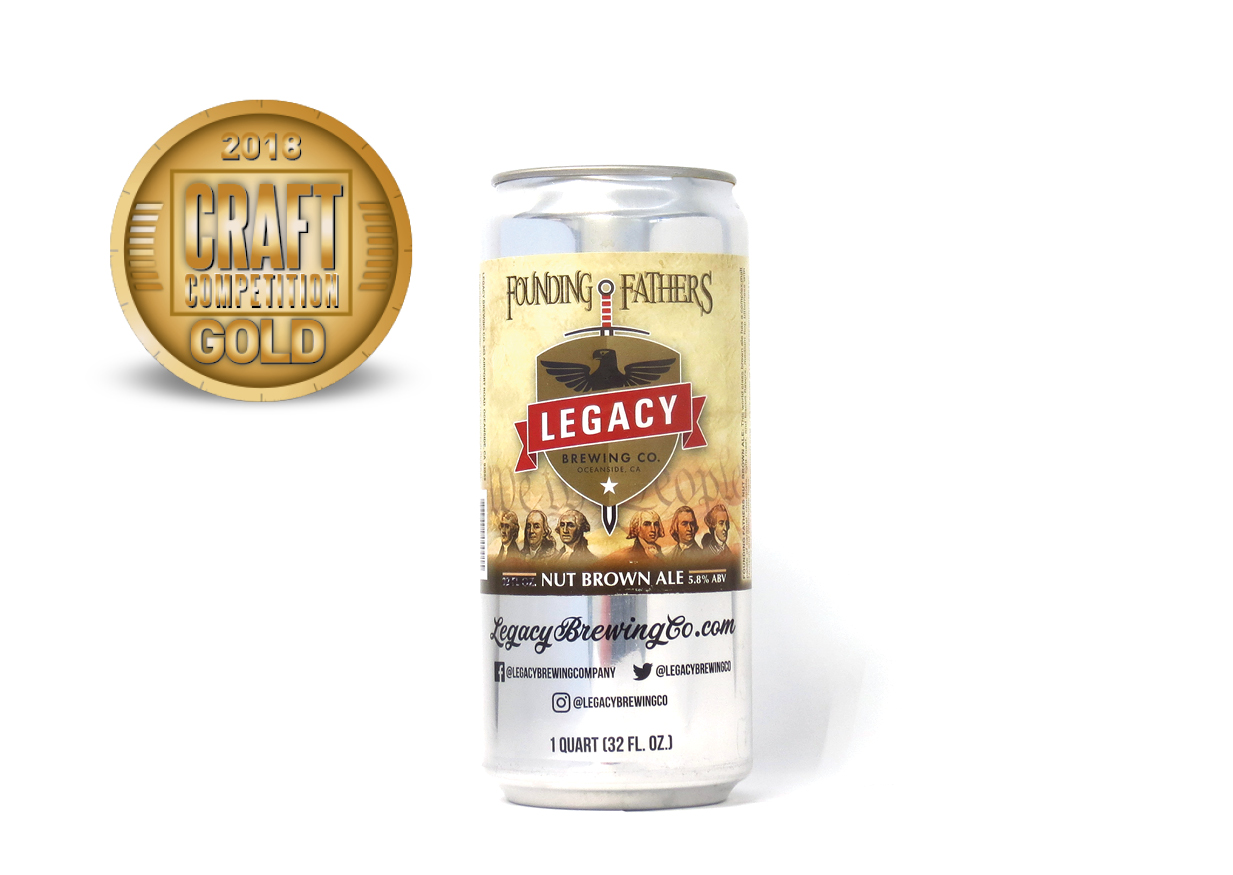 Legacy Brewing Co. Founding Fathers Nut Brown Ale