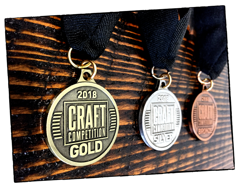 2018 Craft Competition Medals