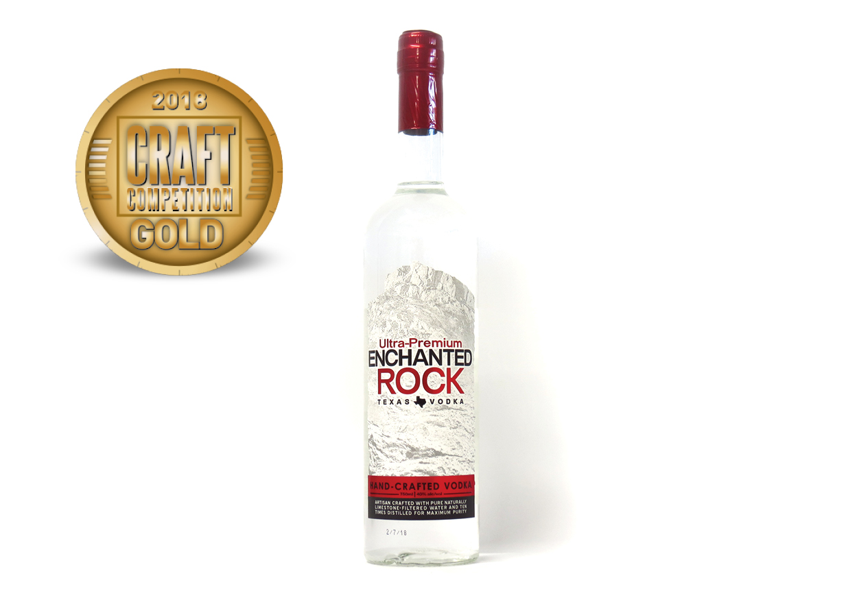 Ultra-Premium Enchanted Rock Texas Hand-Crafted Vodka